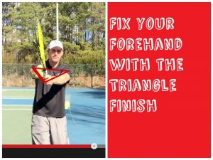 fix forehand with Triangle Finish