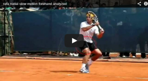 Rafa Nadal slow motion forehand analyzed