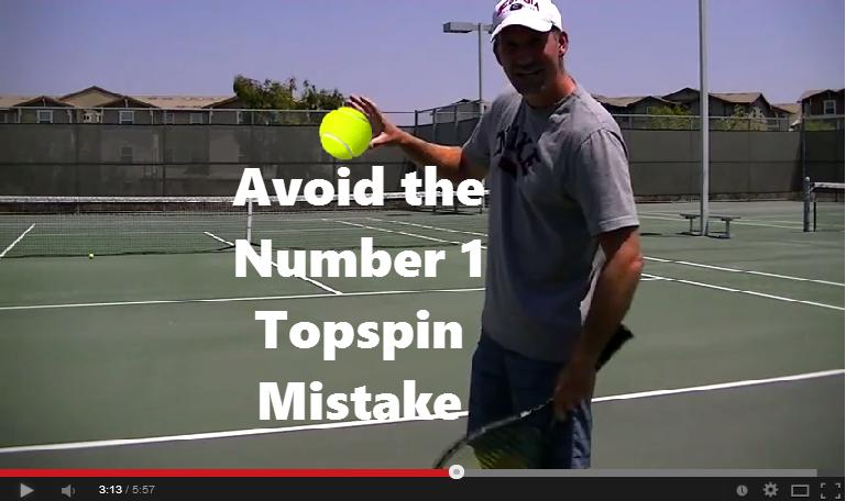 avoid topspin mistake