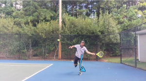 Forehand Tennis Lesson: Switch Foot Scissor Kick Forehand