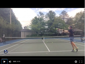 Tennis Lesson: How to crush the approach shot with the ideal contact point…