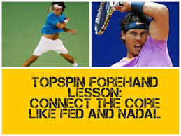 Forehand Topspin Lesson: Connect in the core like Federer and Nadal for more power and topspin