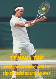 Tennis Tip: Best backhand volley tip to add extra power