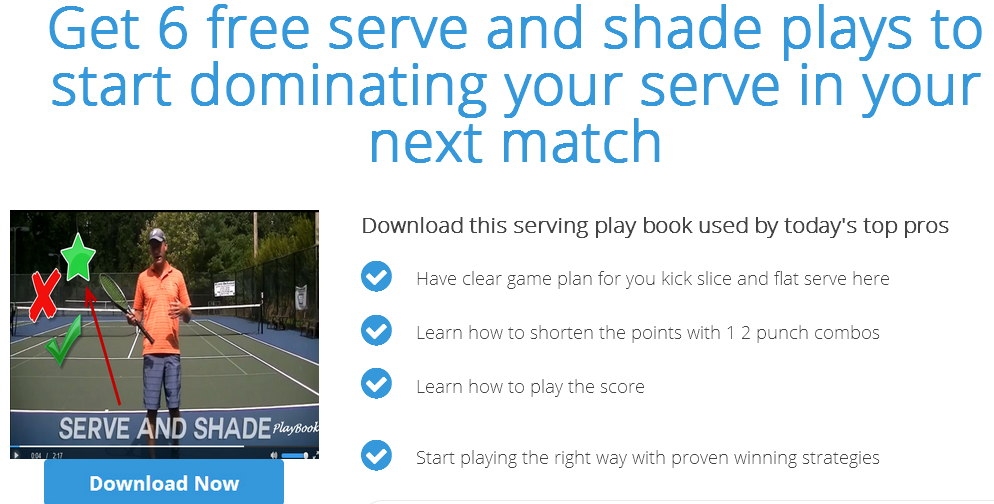 Get 6 free serve and shade plays