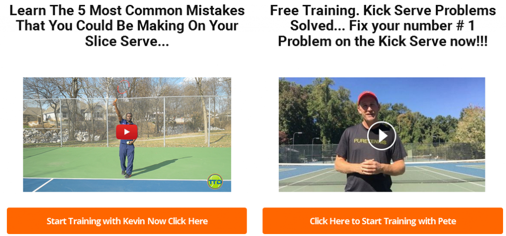 Slice and Kick Serve Training